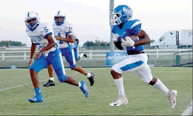 Rodney Haltom I The Democrat Checotah's Dontierre Fisher outruns the Webster defense for a 70-yard touchdown.