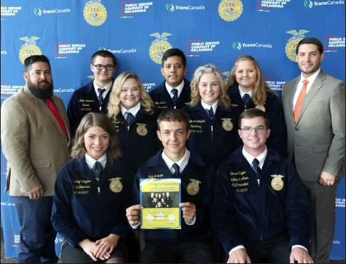 Courtesy Photo Checotah FFA officers who participated in a recent leadership training conference includes Cody Johnson, president; Hugo Llanas, vice president; Mylie Campbell, secretary; Tashell Montgomery, treasurer; Kloee Van Meter, reporter; William Su