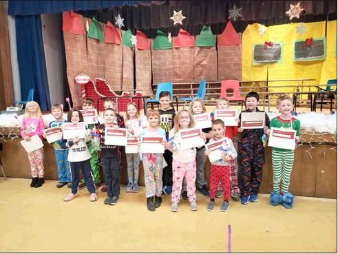 These Marshall students all had perfect attendance for the fall semester.