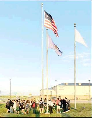 "Checotah High School students met for ""Prayer at the Pole"" on September 25."