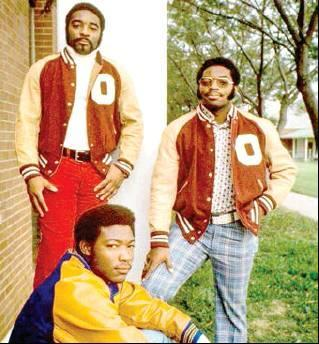 Submitted Photo The University of Oklahoma has announced they will erect a statue in honor the Selmon brothers and their impact at OU and the NFL. Pictured left to right; Lucious and Dewey standing in their OU jackets while Lee Roy sets on the steps in hi