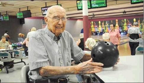 LaDonna Rhodes I The Democrat At 93 years young, Fred Jackson still loves to come to the bowling alley.