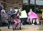 Nursing home residents enjoy parade